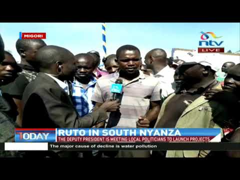 Migori residents welcome DP Ruto's visit amid hope of regional development
