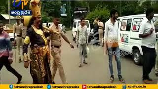 Yamraj Gives Warning to Motor Vehicles for Braking Traffic Rule in Bangalore