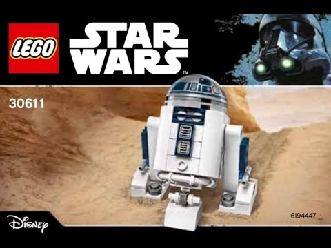 Lego Star Wars 30611 R2 D2 Polybag Building Instructions Youtube