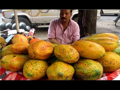 Indian Street Food - Sliced Fruits Healthy Street Food Kolkata || Food at Street