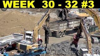 Demolition jackhammering episode 2 w/supporting cast of other heavy equipment (Week 30-32, set 3)