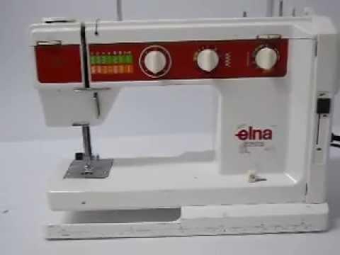 Elna Jubile Sewing Machine working YouTube Extraordinary Elna Sewing Machine