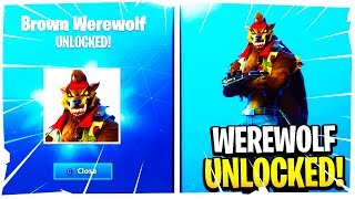 "LVL 35 WEREWOLF SKIN UNLOCKED! Stage 3 ""DIRE"" SKIN Gameplay (Fortnite Season 6 Tier 100 Skin)"