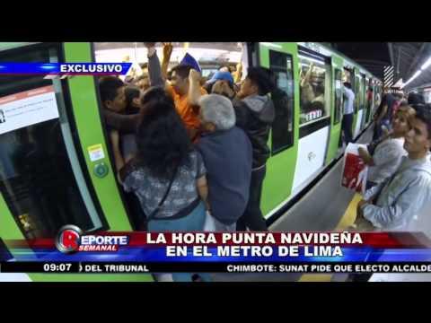 Caos en plena hora punta en el Metro de Lima