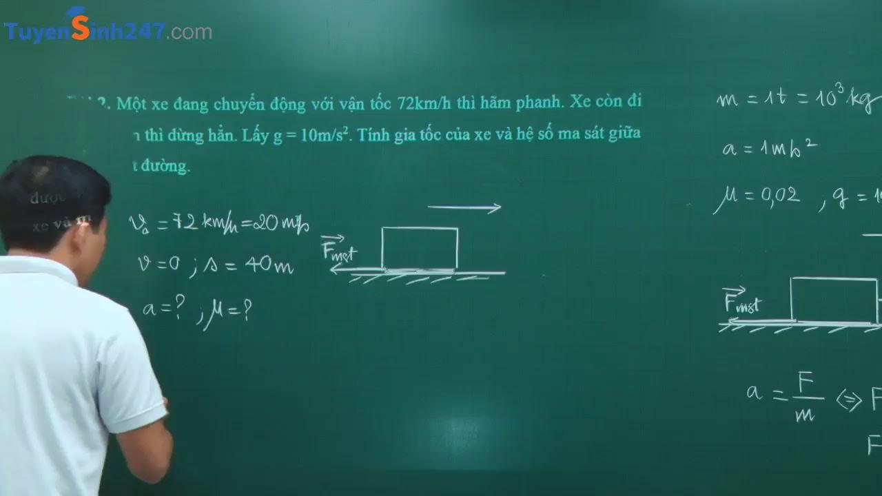 Các lực cơ học – Vật Lí 10 – Thầy giáo Phạm Quốc Toản