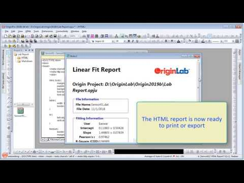 Markdown And HTML Reports In Origin