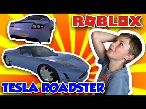 MY FAST ELECTRIC CAR TESLA ROADSTER in ROBLOX VEHICLE SIMULATOR | DRAG RACES | CAR STUNTS