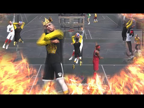NBA 2K18 MyPARK-DUNKING ON THE WHOLE TEAM!! MOST OP BUILT IN THE GAME! I CAN DO EVERYTHING