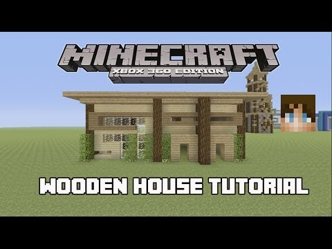 Minecraft Tutorial - How to Build a Small Wooden House!