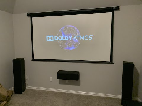 KLIPSCH 5.1 With Mantel Mount MM700/Samsung Q80R QLED & Theater Room 7.1 With SONY VW295 + Patio
