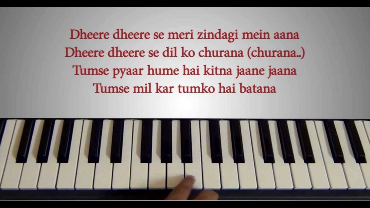 Dheere Dheere Se Piano Tutorial With Lyrics Honey Singh How To