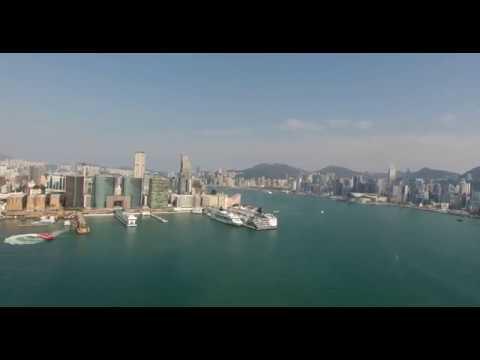 4K HD Drone Video - Victoria Harbour, Hong Kong