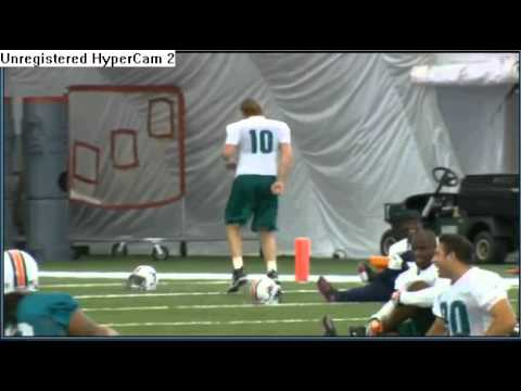 Miami Dolphins Chad pennington Jamming out.