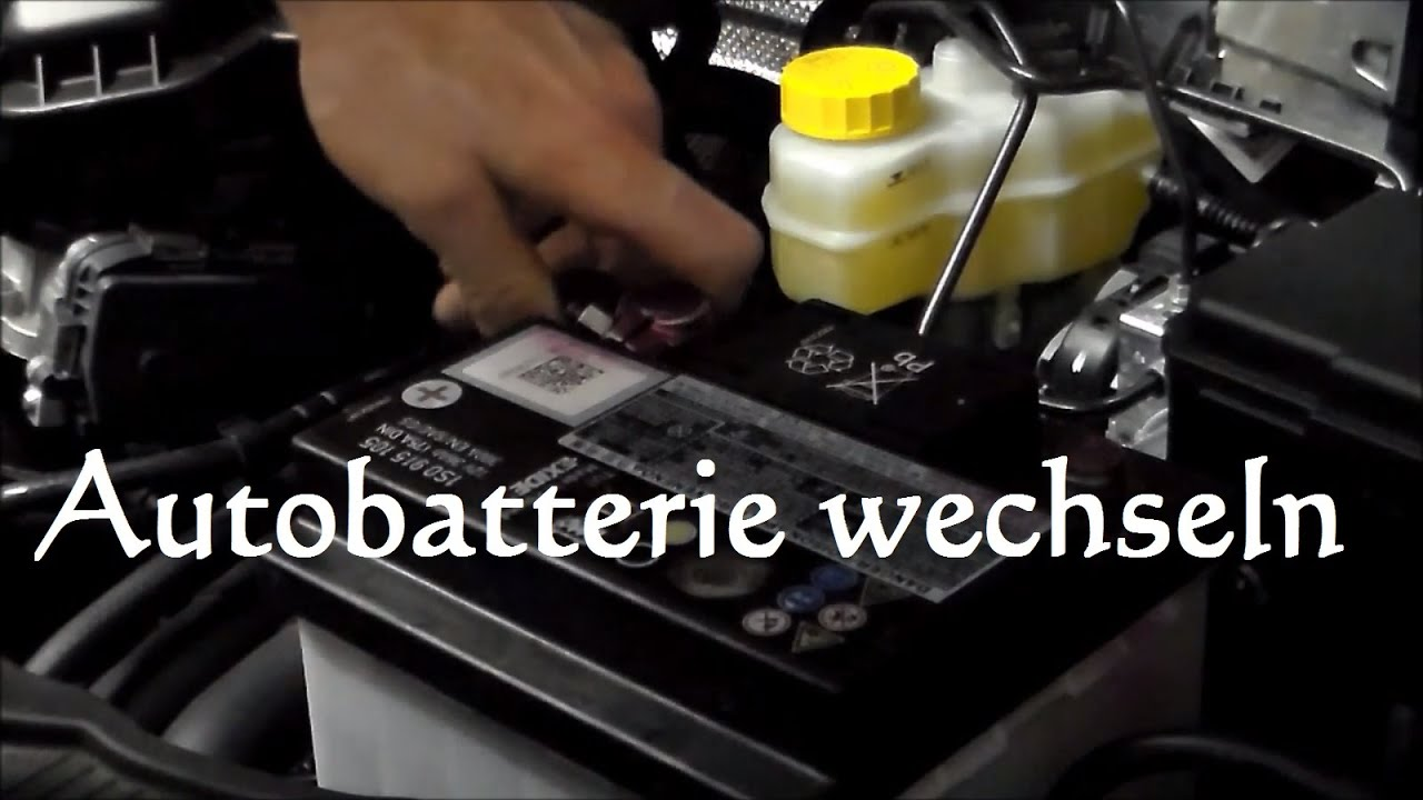 autobatterie wechseln polo ibiza fabia batterie auto ersetzen ausbauen austauschen youtube. Black Bedroom Furniture Sets. Home Design Ideas