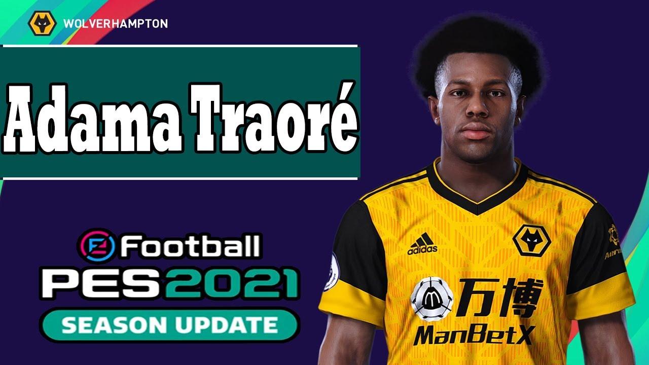 Hasil gambar untuk Adama Traore pes 2021