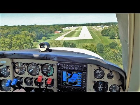Baron 58 Landing on a SHORT Runway 2800ft (Trees on Final!)