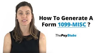 How To Generate A Form 1099-MISC ?