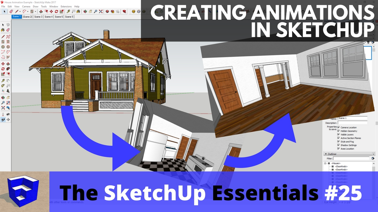 Creating Animations in SketchUp - The SketchUp Essentials #25