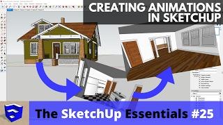 إنشاء الرسوم المتحركة في SketchUp - سكتشب أساسيات #25