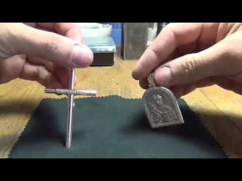 Крест и иконка из серебра