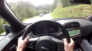 Jaguar F-Pace S 3.0 V6 380 HP (2016) Point of View & Exhaust Sound (Autoweb.cz)
