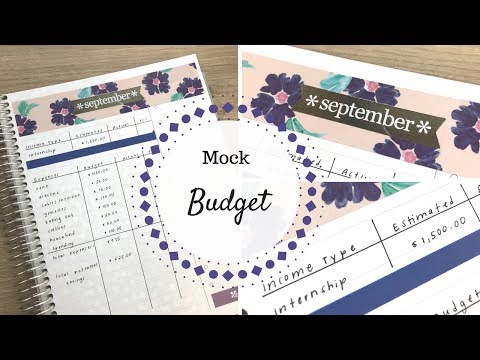 mock budget 1 500 monthly income college budget erin condren