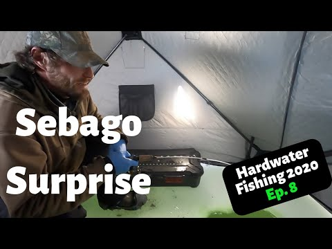 Ice Fishing Maine 2020 Sebago Lake Trout Ep.8