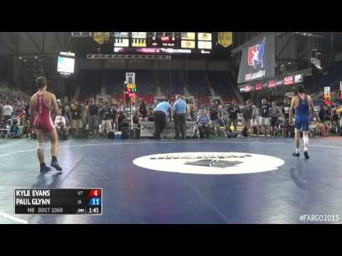 132 Champ. Round 3 - Paul Glynn (Iowa) vs. Kyle Evans (Utah)