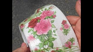 Top 5 Decoupage tips to avoid Wrinkles w  Napkins!