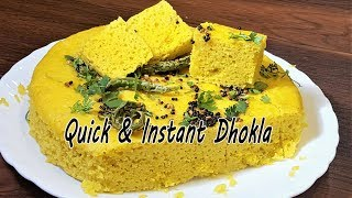 How to make Instant Dhokla   MadhurasRecipe   Instant Soft and Spongy Dhokla in Pressure Cooker