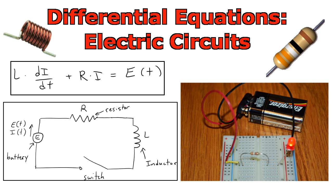 Differential Equations Electric Circuit Introduction Youtube Video Animation Simple Electrical Showing Current Flow By