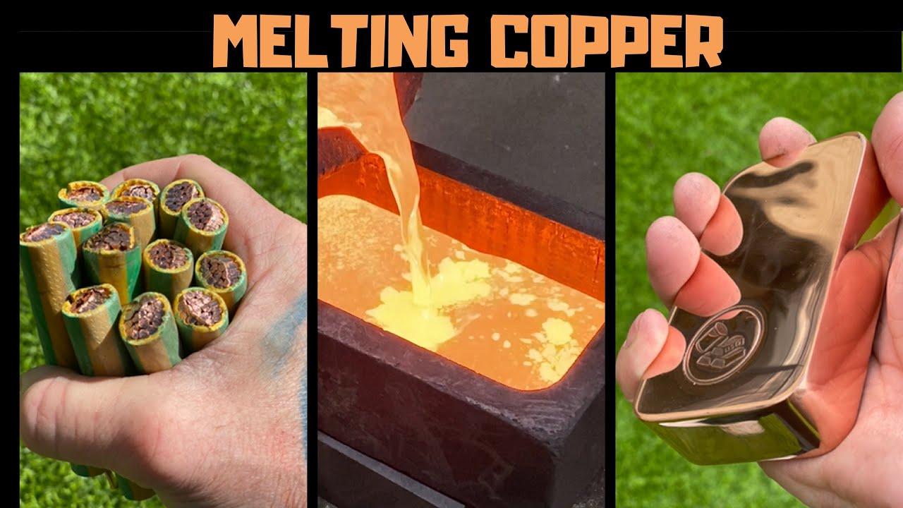 Melting Copper - Stripping Melting Mini Monster Cable - ASMR Metal Melting - BigStackD - Skull