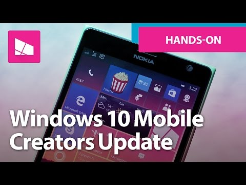 Windows 10 Mobile Creators Update - Official Release Demo