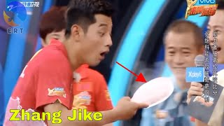 Funny Game Show: Zhang Jike playing with the ice racket