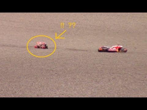 Crash!!  Marc Marquez Jatuh di Tes Mugello, Tangannya Patah?