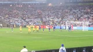 Tim Cahill disallowed goal - Australia vs Greece - 4/6/16