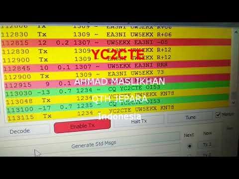 QSO Estonia, Spain, Indonesia 21.074Mhz FT8
