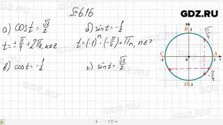 № 6.16- Алгебра 10-11 класс Мордкович