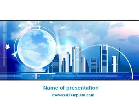 future city powerpoint templatepoweredtemplate - youtube, Modern powerpoint