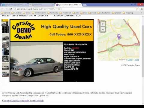 Posting to Craigslist with Carsinia web based dealer management system
