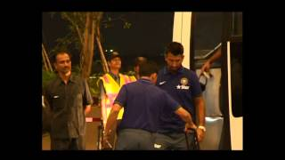 Watch Video: Indian Cricket team departs for Australia Tour 2014