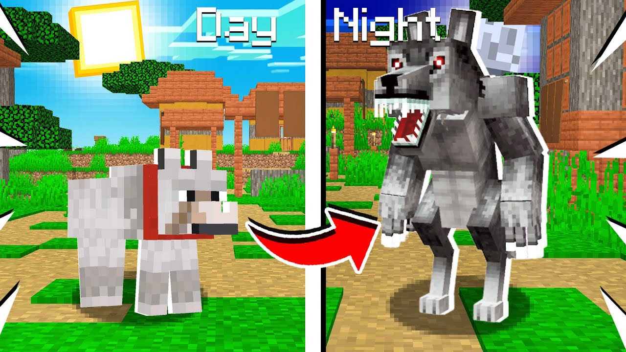 How to Turn a WOLF into a WEREWOLF in Minecraft!