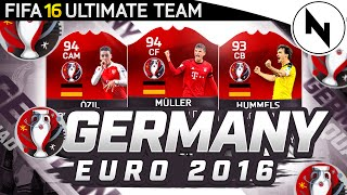 GERMANY EURO 2016 SQUAD BUILDER! - FIFA 16 Ultimate Team