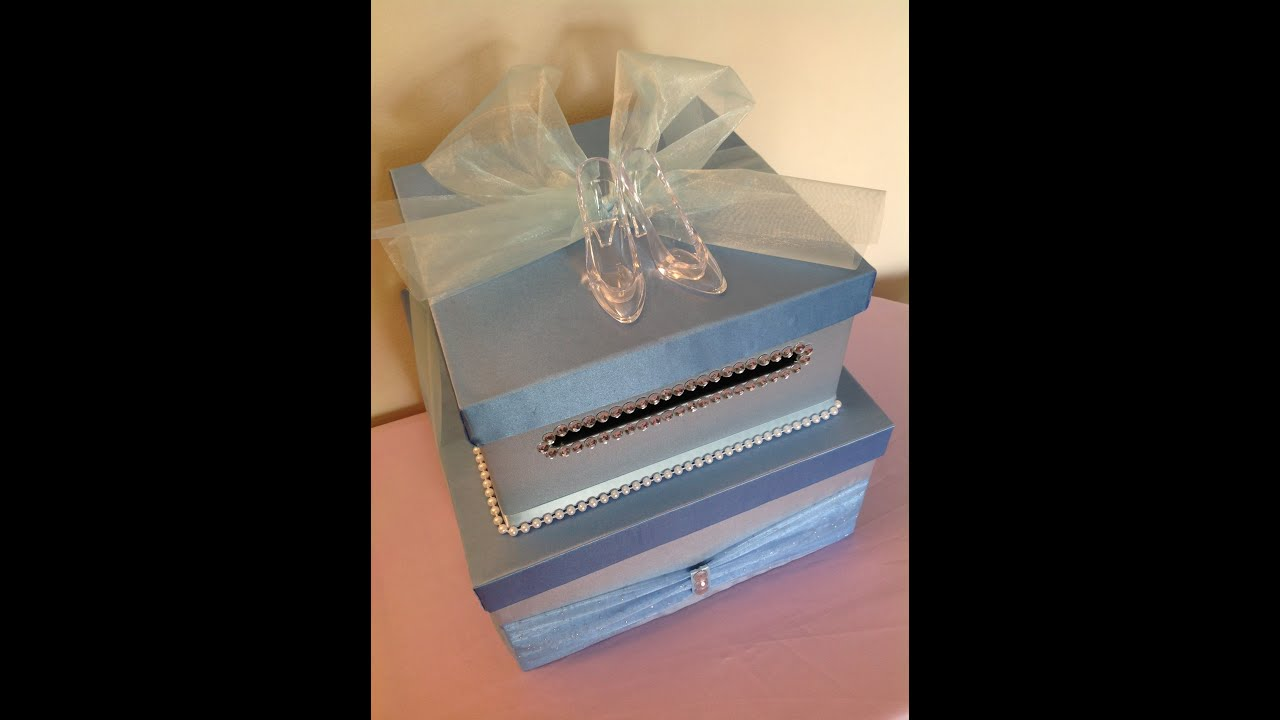 Cinderella Card Box Tutorial For Quinceaneras YouTube – Wedding Card Holder Boxes