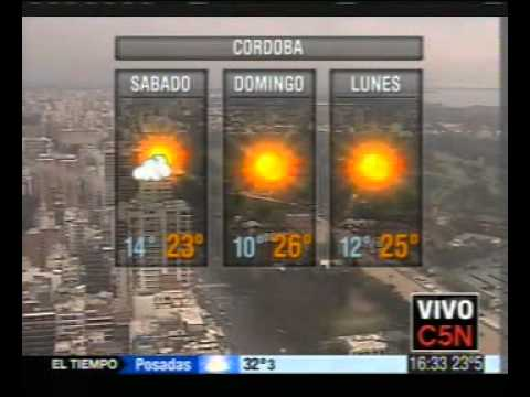 C5N AS ESTAR EL CLIMA EL FIN DE SEMANA LARGO  YouTube