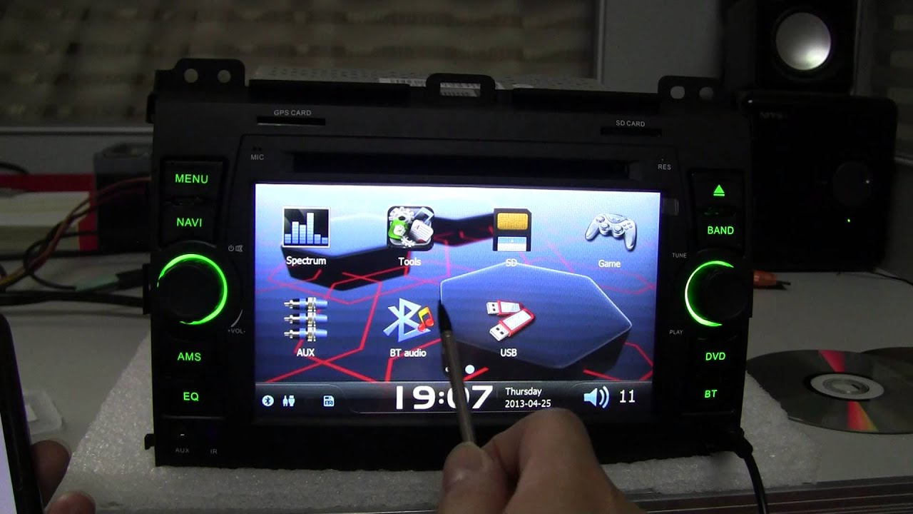 In Car Dvd Player Gps Navigation Stereo For Toyota Land