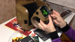 Fallout 4 Pip Boy Edition Распаковка Unboxing and Vault Boy Bobblehead Energy Weapons