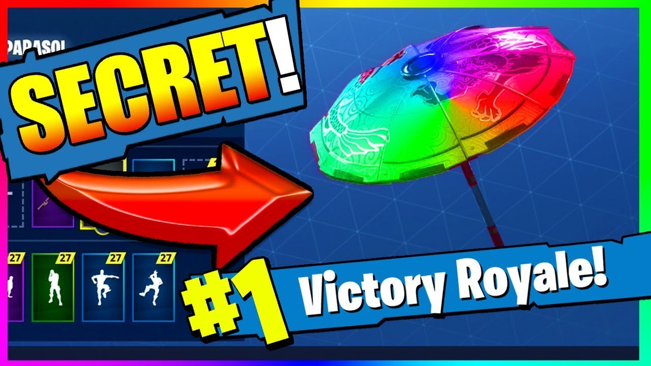 new how to get color changing umbrella in fortnite battle royale epic - color ranking in fortnite