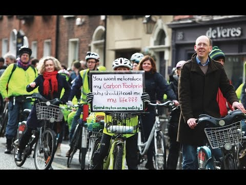 Cyclists Hold Protest At Leinster House
