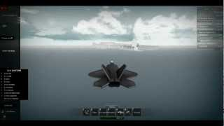 Me flying an F-22 raptor on roblox. :D